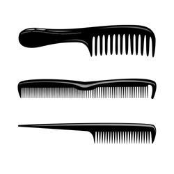 Barber tool set beauty salon combs vector illustration eps10 barbershop tool men s hairbrush haircut comb
