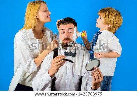 Barbershop. Barber shop tools. Hairdresser making hairstyle. Beard care. Hair preparation. Fashion. Bearded man in barbershop. Coiffeur making hairstyle. Hipster. #1423703975