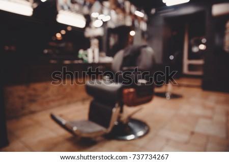 barbershop. blurred background...