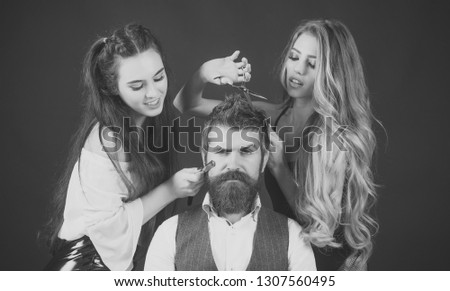 Barbershop, fashion, beauty, hipster. barbershop and hairdresser #1307560495