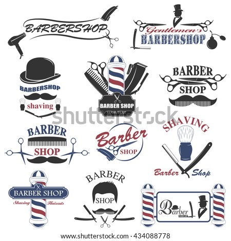 barbershop tool collection  set ...
