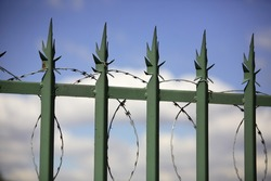 Barbwire security fence.