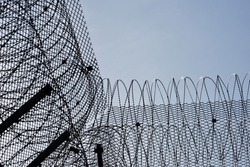 Barbwires and fences, strong defense symbol