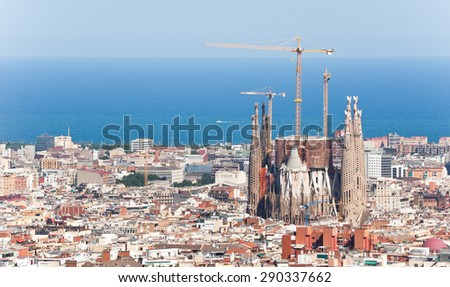 Shutterstock Barcelona aerial view