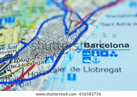 Free Photos Barcelona Spain Pinned On Vintage Map Of Europe
