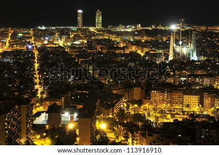Barcelona in the night