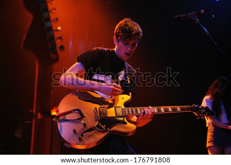 BARCELONA - JUN 20: The Pains of Being Pure at Heart (band) performs at Apolo on June 20, 2011 in Barcelona, Spain.