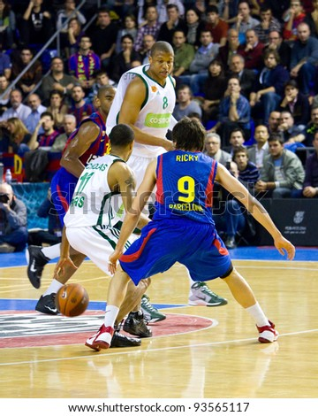 6a0306089d0 BARCELONA - MARCH 24  Ricky Rubio (9) of Barcelona in action during the