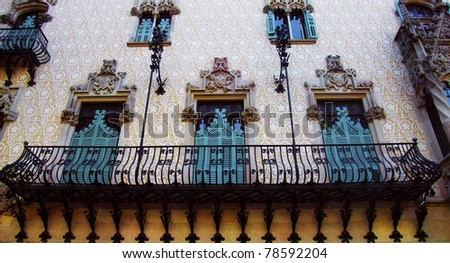 BARCELONA - MAY 15: Detail of Casa Amatller on May 15, 2011 in Barcelona. Casa Amtller is a building in the Modernisme style, located in the Eixample District in Barcelona.