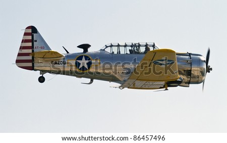BARCELONA - OCTOBER 2: Unidentified pilots perform acrobatics during the aerial plane exhibition Festa al Cel festival, on October 2, 2011, in Barcelona, Spain.
