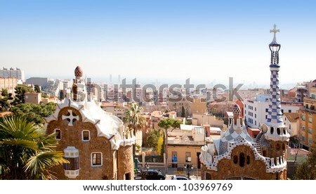 Barcelona Park Guell of Gaudi Gingerbread and fairy tale houses