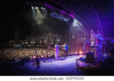BARCELONA - SEP 22: Spanish singer Macaco performs at the \