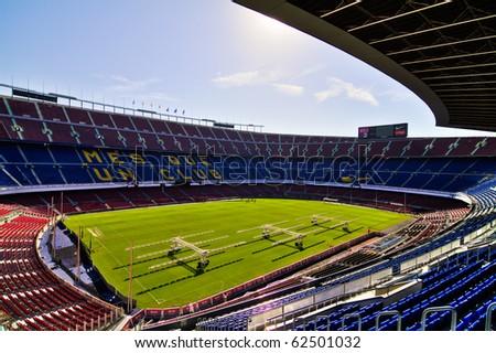 BARCELONA SEP 15 Visit at the Nou Camp Stadium on September 15 2010 in