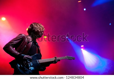 BARCELONA, SPAIN - DEC 8: Toy band performs at Sant Jordi Club on December 8, 2012 in Barcelona. Primavera Club Festival.