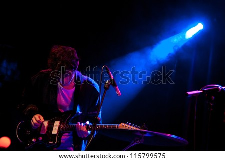 BARCELONA, SPAIN - MAY 31: Be Forest band performs at San Miguel Primavera Sound Festival on May 31, 2012 in Barcelona, Spain.