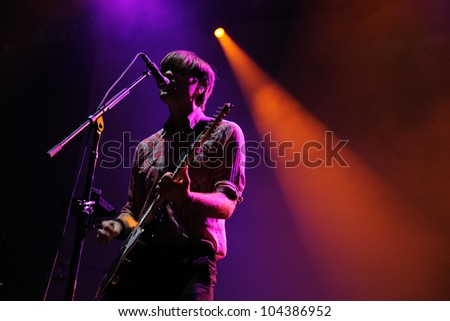 BARCELONA, SPAIN - MAY 31: Death Cab For Cutie band performs at San Miguel Primavera Sound Festival on May 31, 2012 in Barcelona, Spain.