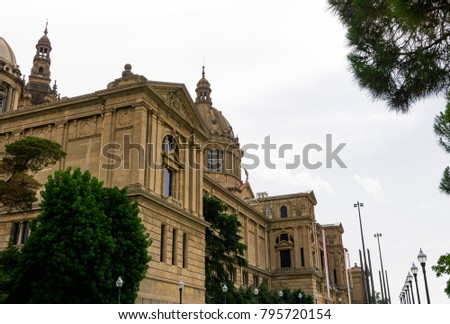 Shutterstock Barcelona, Spain Museu Nacional d'Art de Catalunya facade. External day view of National Art Museum of Catalonia MNAC on Montjuïc hill at Palau Nacional area.