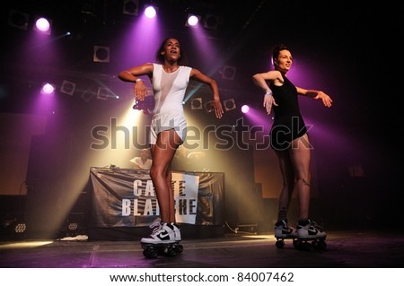 BARCELONA, SPAIN - SEPT 2: Carte Blanche band performs at Razzmatazz Clubs on September 2, 2011 in Barcelona, Spain.