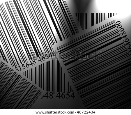 Barcode collection on a solid white background
