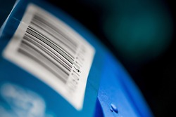 Barcode numbers on a product