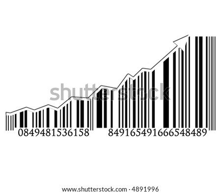 Barcode with integrated arrow graph