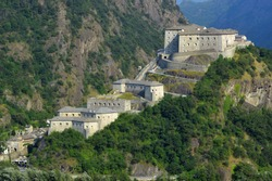 Bard, Aosta Valley, Italy- View of the Fort of Bard.