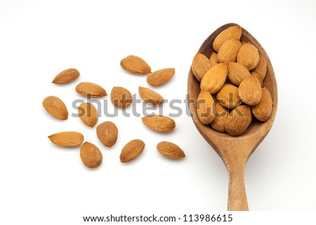 bare almonds ready to eat - stock photo