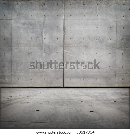 Bare concrete grungy room