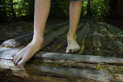 bare foot path outdoor activity