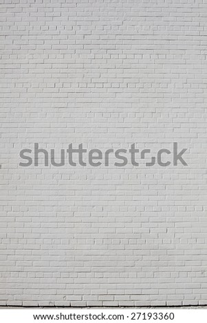 Bare White Brick Wall