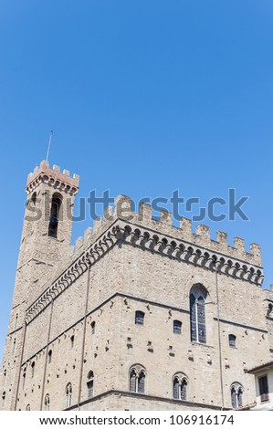 Bargello museum facade located at Florence, Italy