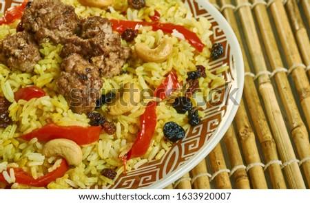 Bariis Iskukaris ,  spiced Somali rice dish Zdjęcia stock ©