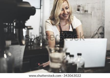 Barista Cafe Making Coffee Preparation Service Concept