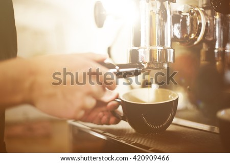 Barista Coffee Maker Machine Grinder Portafilter Concept