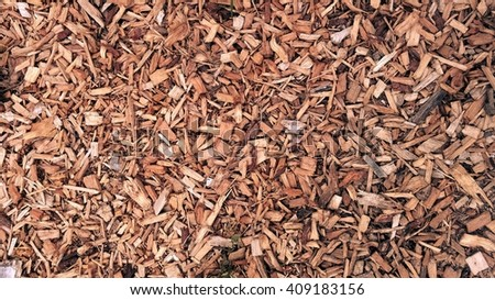 Bark wood chips background.