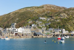 Barmouth town and harbour Gwynedd north west Wales UK Snowdonia