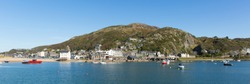 Barmouth Wales beautiful coast town in Gwynedd Snowdonia panoramic view