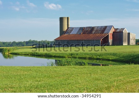 Barn and Pond