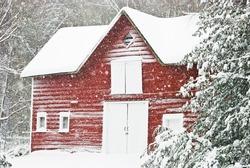 Barn in Blizzard