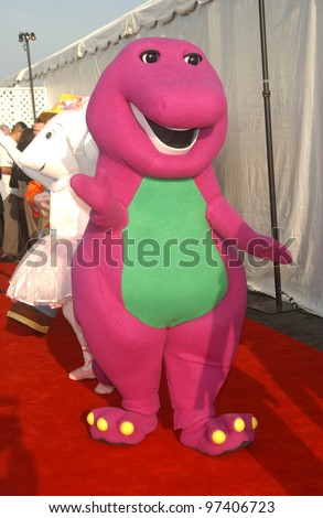 BARNEY at the 10th Anniversary Dream Hallowe'en Gala at Santa Monica Airport, CA. The event raised money for Children Addected by AIDS Foundation. October 25, 2003  Paul Smith / Featureflash