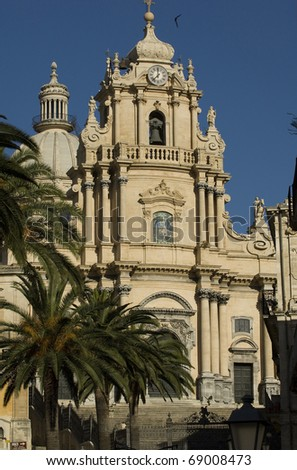 barocco cattedral in Ragusa, Sicily, Italy - stock photo