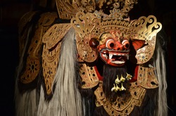 Barong is a traditional costume for shows as lions in the Indonesian barong bali dance