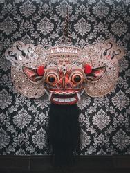 Barong ket - mask of barong ket signature from tegallalang artist