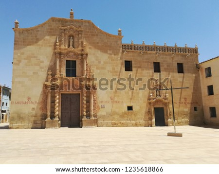 Baroque christian monastery in Santa Faz, Alicante, Spain. Foto stock ©
