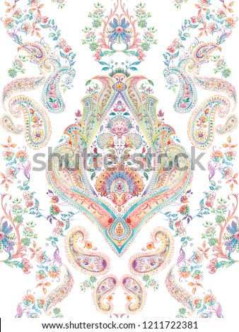 Baroque damask pattern, delicate mechanism, delicate shading, elegant pattern,White background