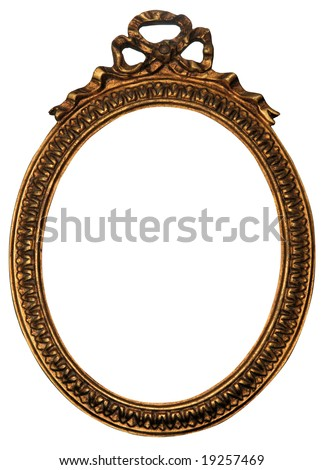 Baroque Gold Mirror / Picture Frame with Ornaments to put your owns pictures on it. File contains clipping path.
