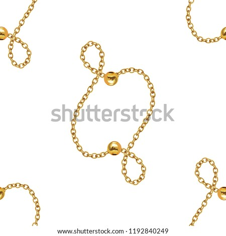 Baroque Golden Chain , Repeat Pattern