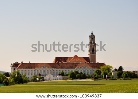 baroque herzogenburg monastery in austria on a summer day