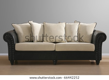 baroque isolated couch - stock photo