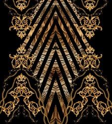 baroque leopard  background